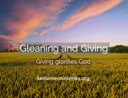 Gleaning and Giving Brings Glory To God